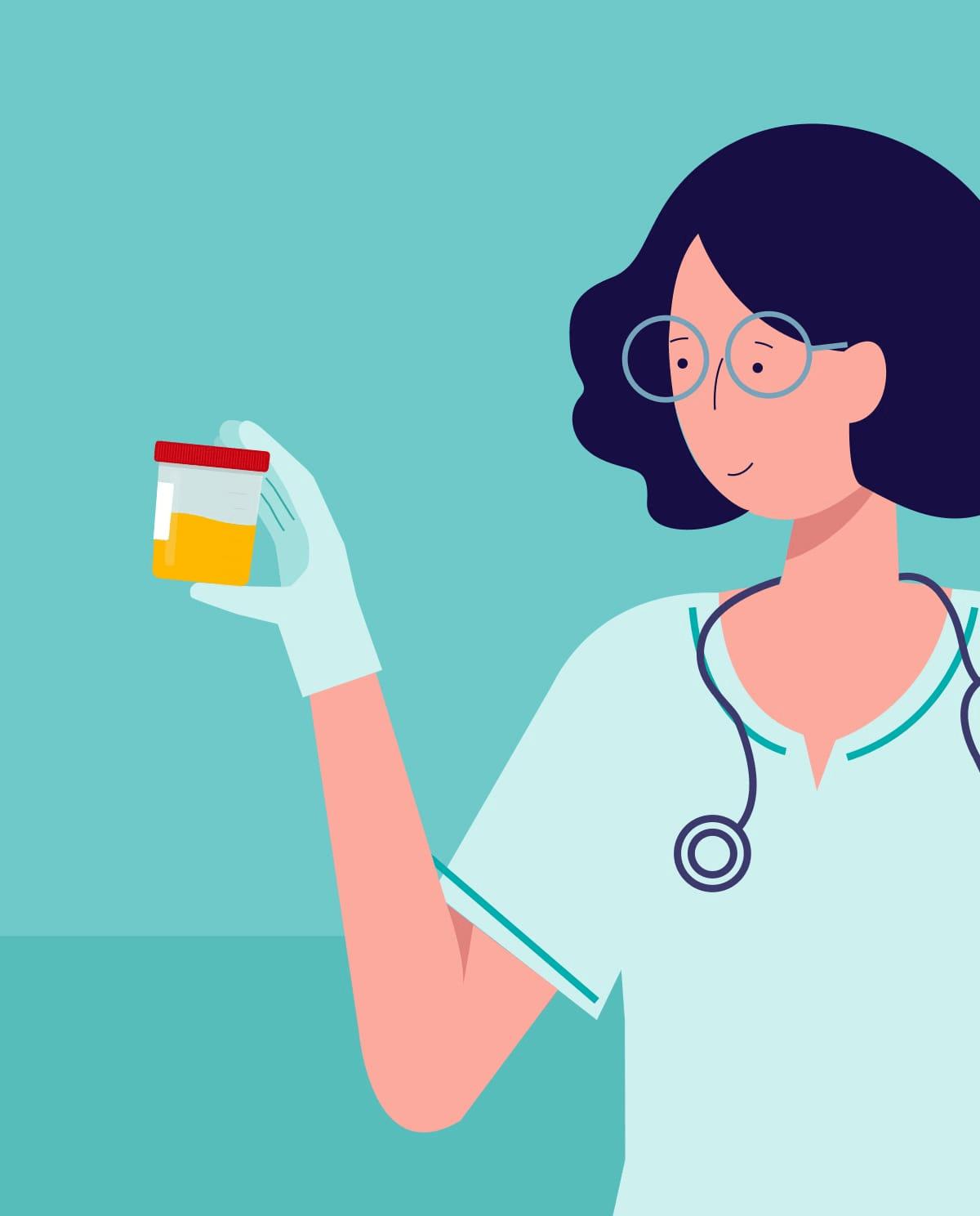 Preparation for general urine testing