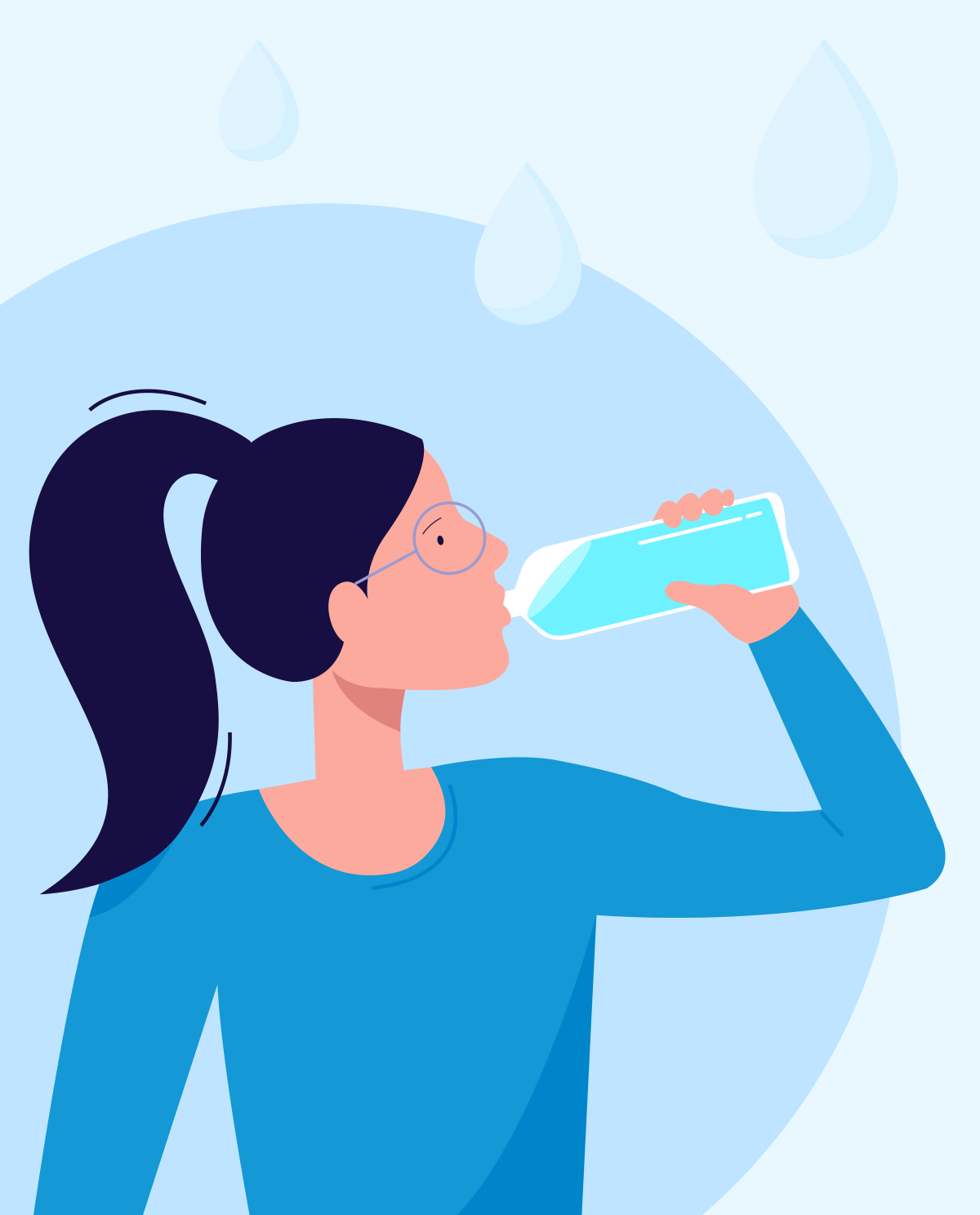 How much water should we drink during the day?